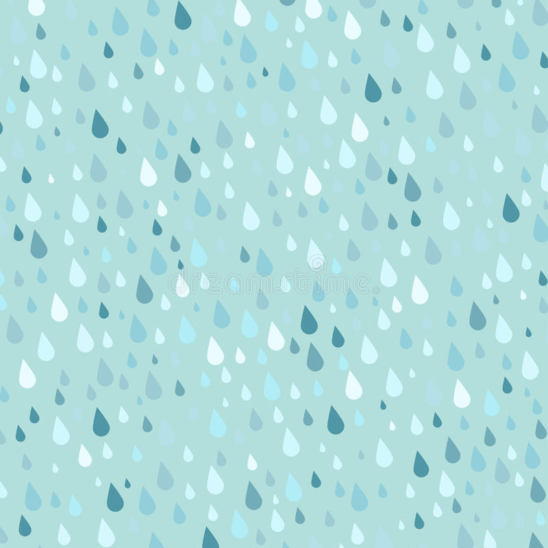 Le gocce di pioggia variopinte senza cuciture modellano l'illustrazione blu dell'estratto della goccia di pioggia della natura de royalty illustrazione gratis