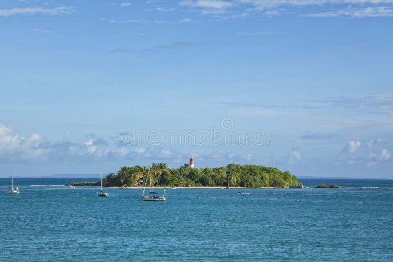 Le Gosier wyspa, Guadeloupe zdjęcia stock