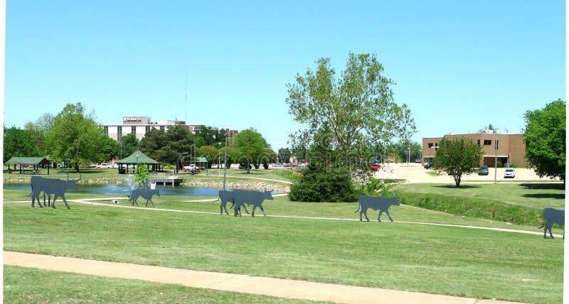 Le gouvernement jaillit parc, Enid, l'Oklahoma image libre de droits
