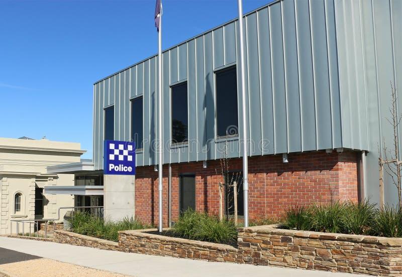Le gouvernement national de 24 heures de Castlemaine a financé $12 8 millions de commissariat de police est devenu opérationnel e images stock