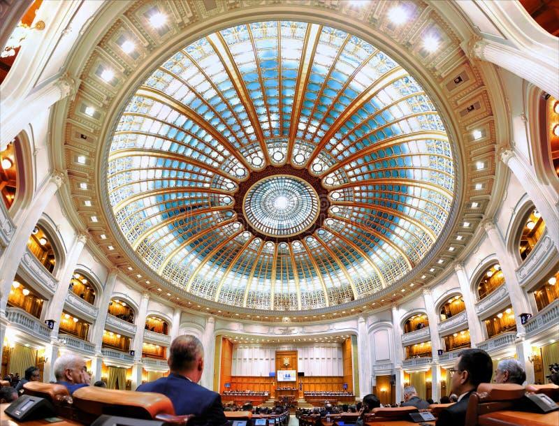 Le gouvernement roumain a mené par Sorin Grindeanu - Roumain Parliamen images libres de droits