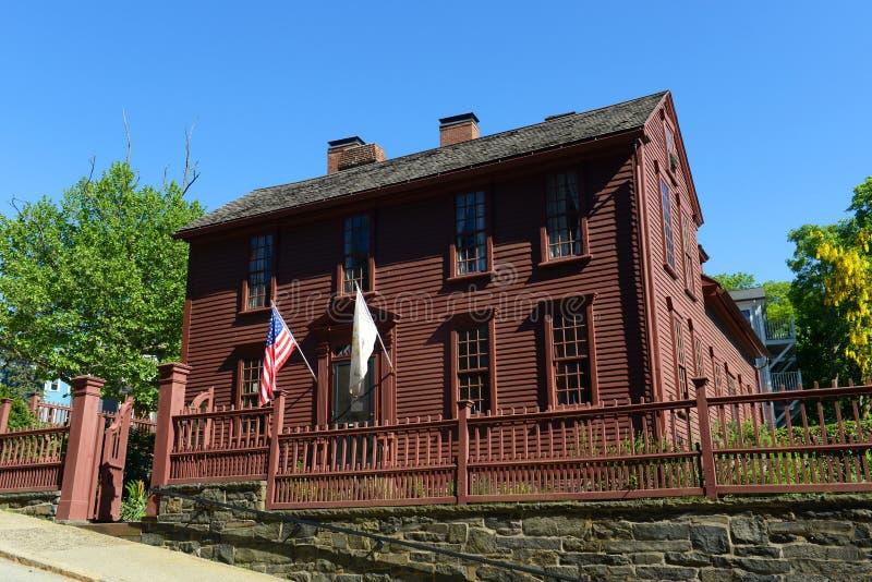 Le Gouverneur Stephen Hopkins House, Providence, RI, Etats-Unis images libres de droits
