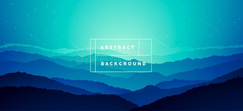 Le gradient BG d'abrégé sur montagne de paysage dirigent illustration de vecteur