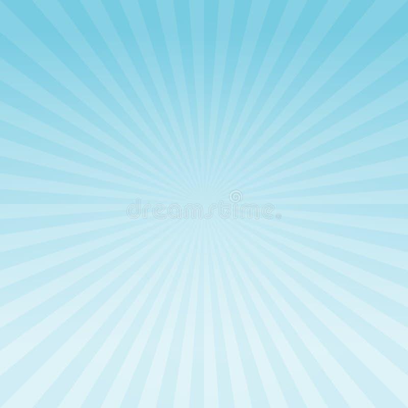 Le gradient bleu-clair abstrait rayonne le fond Cmyk du vecteur ENV 10 illustration libre de droits