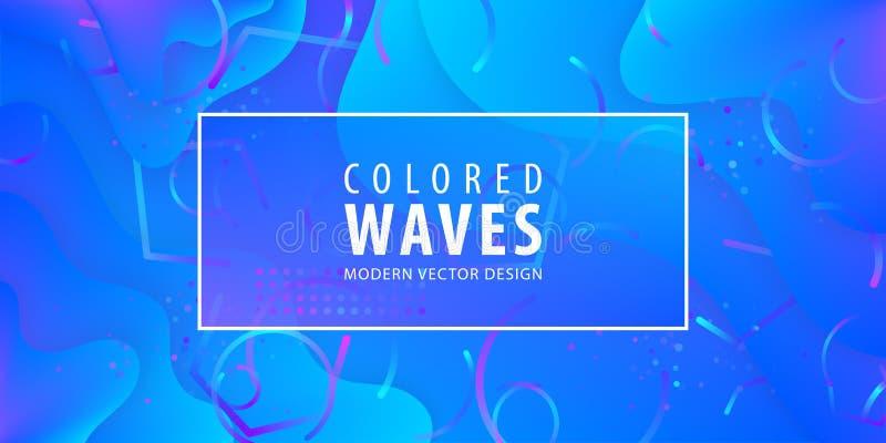 Le gradient liquide forme la composition Conception liquide de fond de couleur Affiches de conception Illustration de vecteur illustration libre de droits
