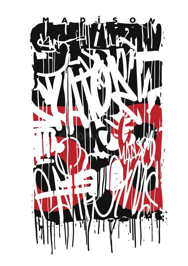 Le graffiti de vecteur étiquette l'illustration graphique de conception d'impression photographie stock libre de droits
