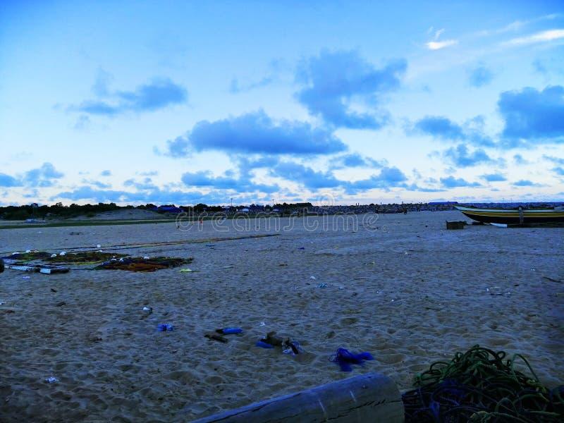 Le grand-angulaire du sable de plage photo stock