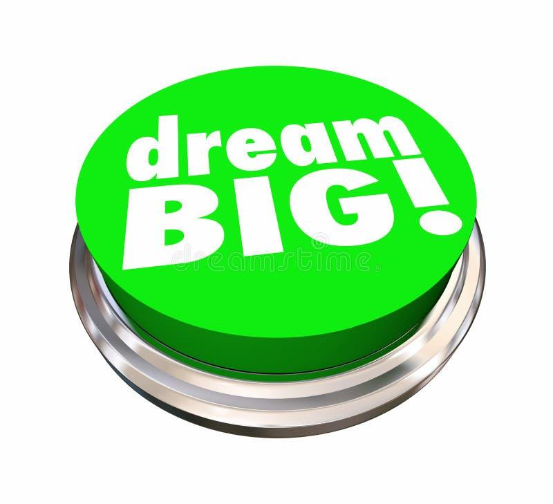 Le grand bouton rêveur espère des ambitions de plans illustration libre de droits