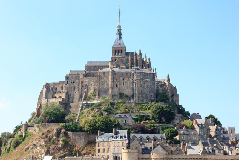 Le grand château de Mont St-Michel photographie stock