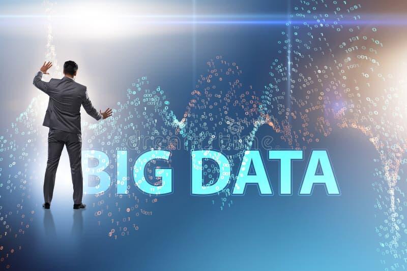 Le grand concept de données avec l'analyste d'exploitation de données images libres de droits