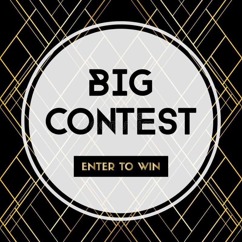 Le grand concours entrent pour gagner Bannière de vecteur pour le media social illustration libre de droits