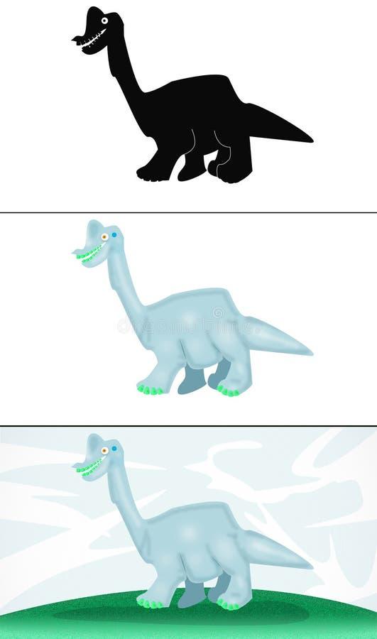 Le grand dinosaur images libres de droits