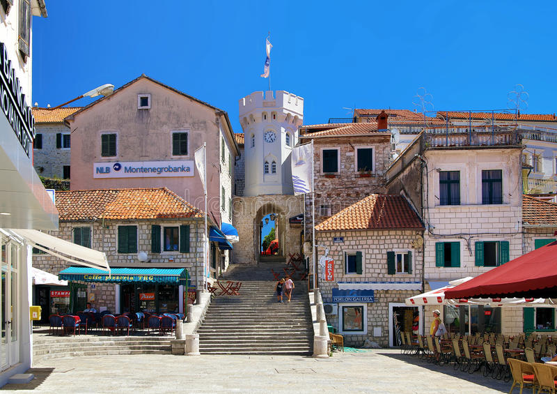 Le grand dos dans Herceg Novi, Monténégro image libre de droits