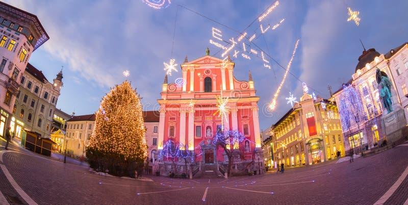 Le grand dos de Preseren, Ljubljana, Slovénie, l'Europe images libres de droits