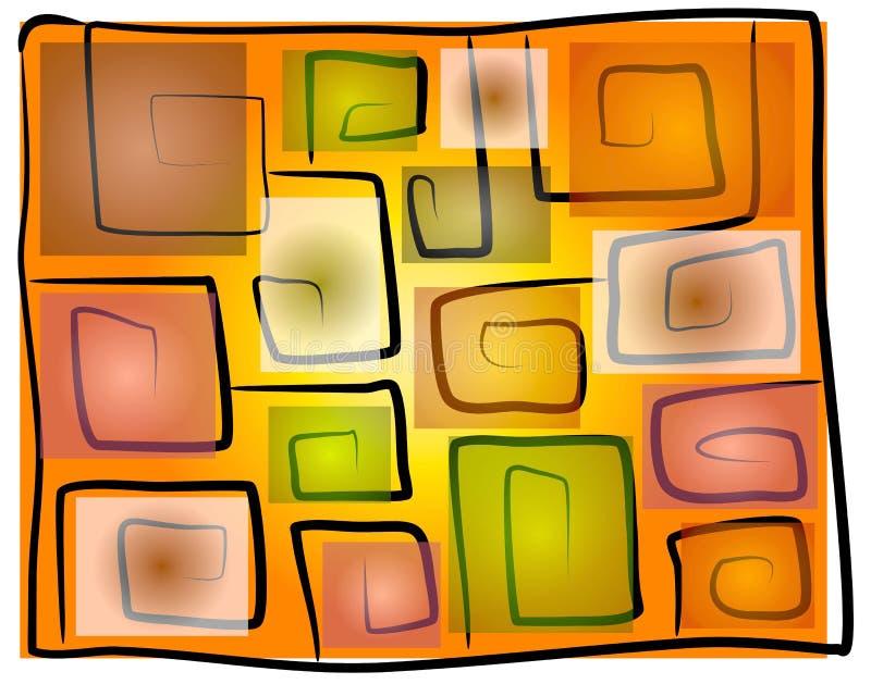 Le grand dos impair se développe en spirales fond illustration de vecteur