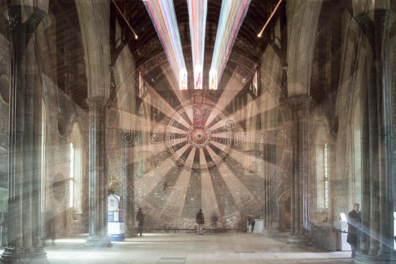 Le grand hall, château de Winchester, éclat de bourdonnement du Hampshire photographie stock