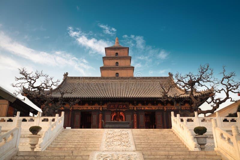 Le grand hall de buddhaâs avec la pagoda sauvage géante d'oie photo libre de droits