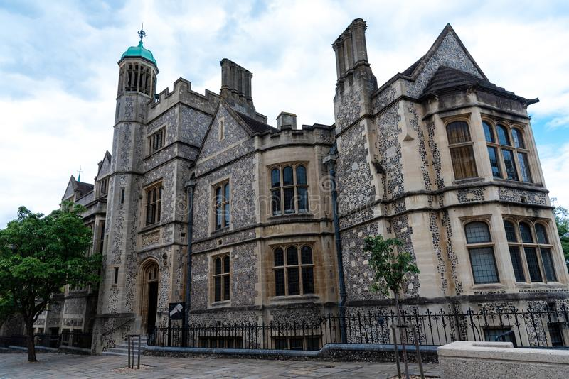 Le grand hall du château de Winchester photographie stock libre de droits