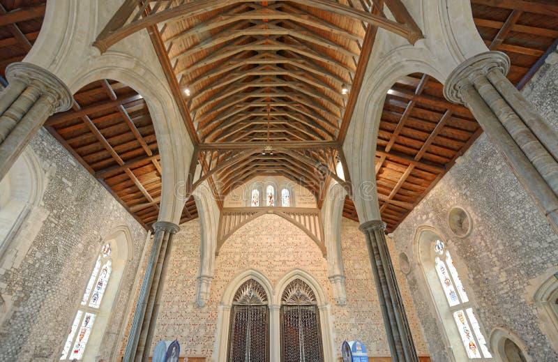 Le grand hall du château de Winchester au Hampshire, Angleterre photos stock