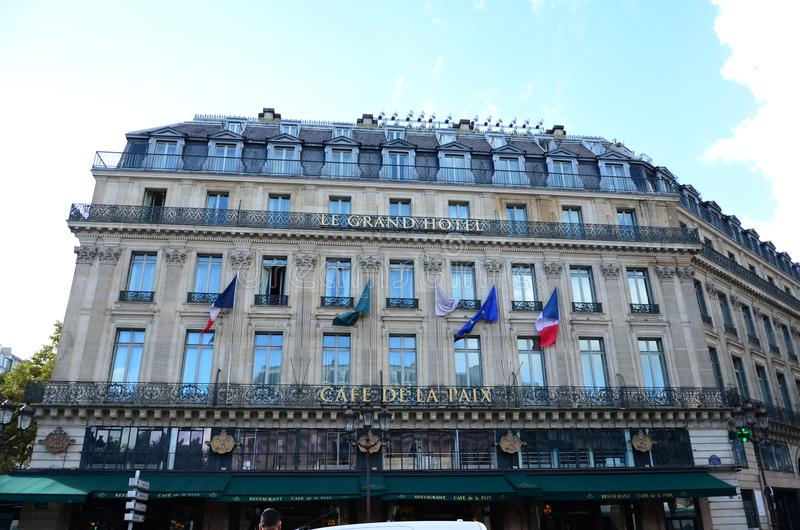 Le Grand Hotel Paris royalty free stock photo