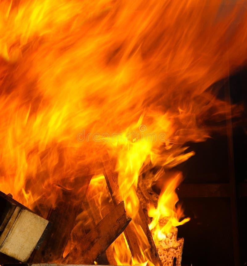 Le grand incendie photo stock