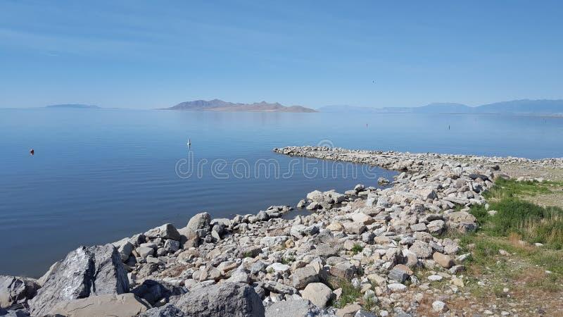 Le Grand Lac Salé image stock