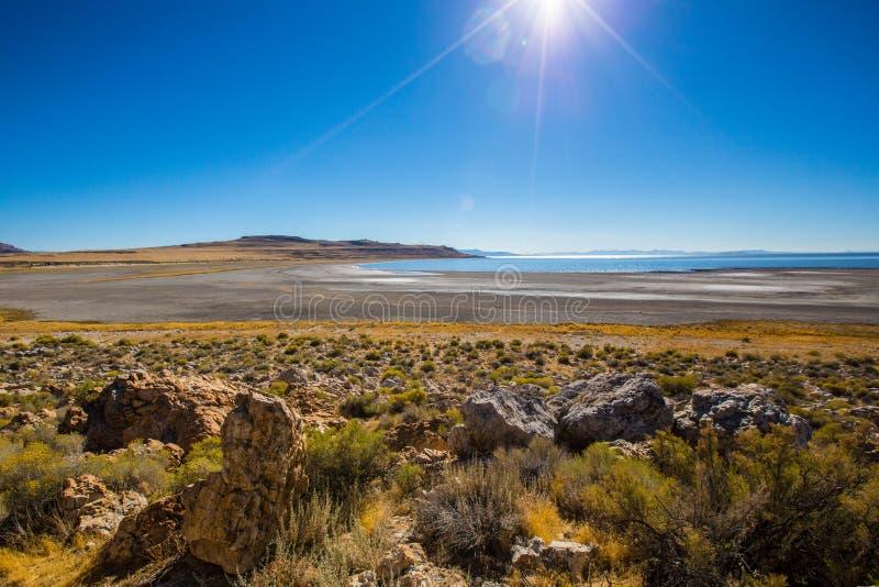 Le Grand Lac Salé près de Salt Lake City photo libre de droits