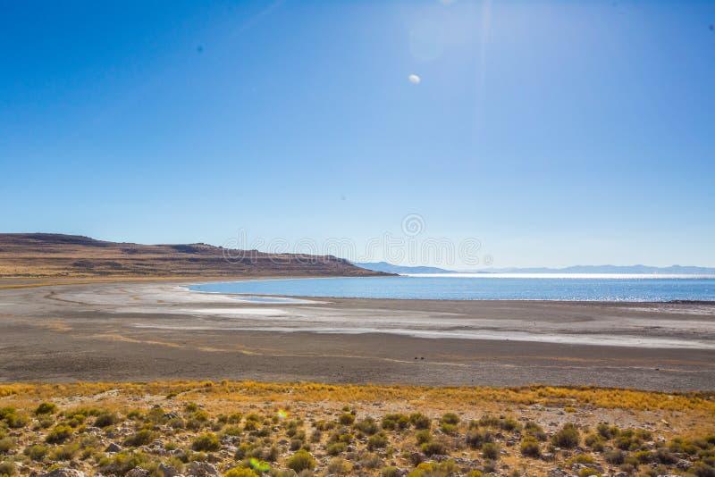 Le Grand Lac Salé près de Salt Lake City photographie stock