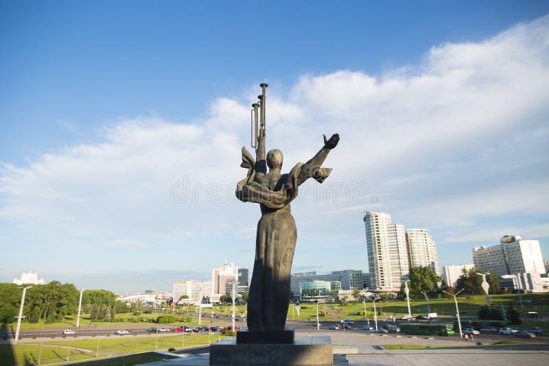Le grand monument patriotique de guerre photo libre de droits