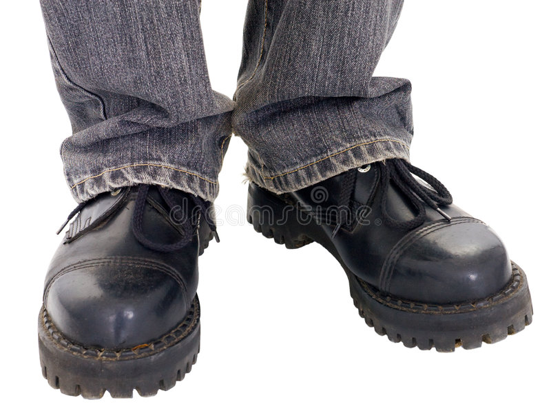 le grand noir amorce des pieds photographie stock
