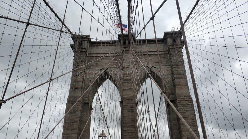 Le grand pont de Brooklyn image stock