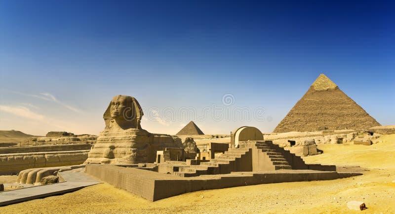 Le grand sphinx de Gizeh images libres de droits