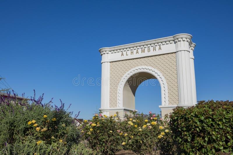 Le grand symbole d'Alhambra photos libres de droits