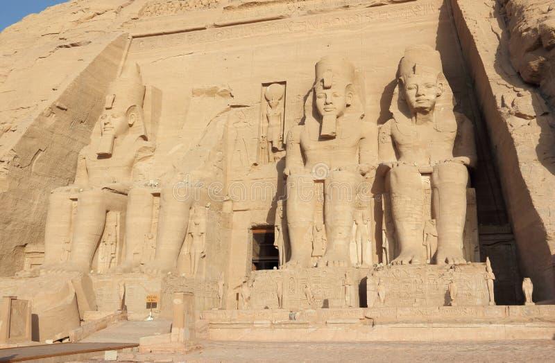 Le grand temple de Ramesses II Abu Simbel, Egypte images libres de droits