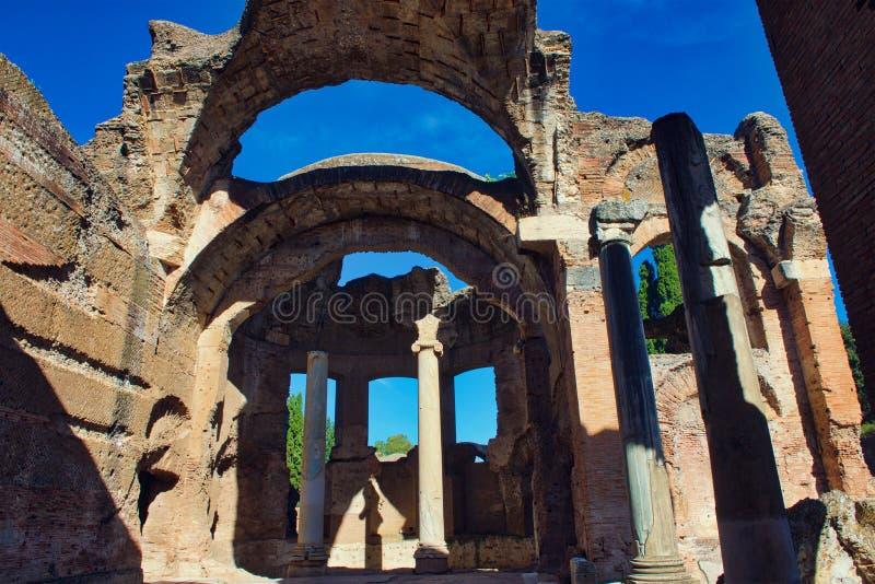 Le grand Thermae à la villa de Hadrians photo stock