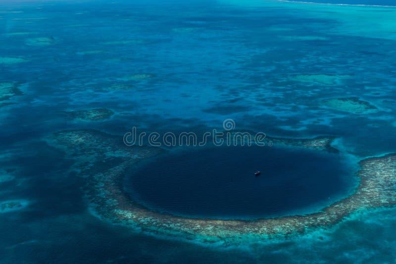 Le grand trou bleu, Belize images stock
