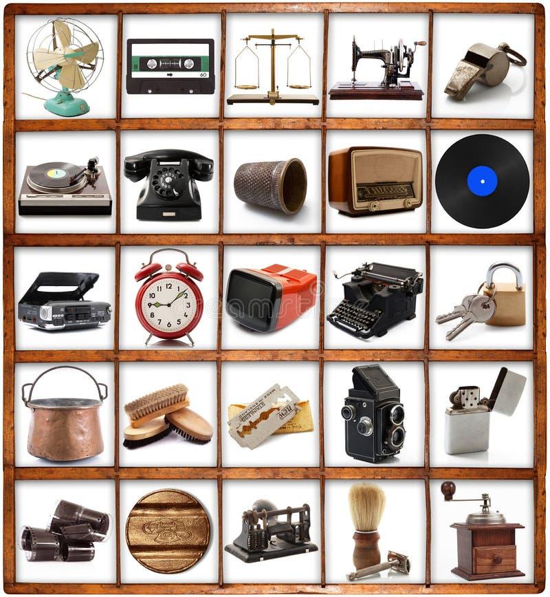Le grand vintage original objecte la collection photos stock