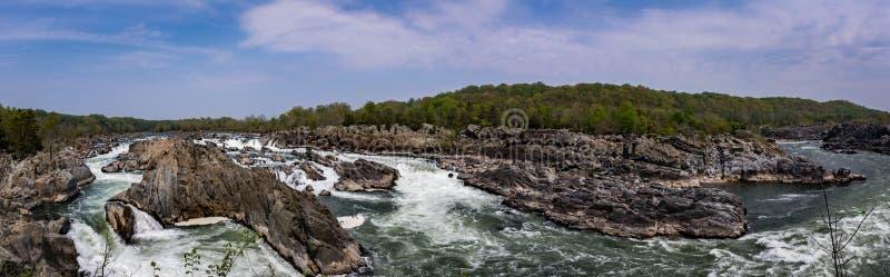 Le grande cadono cascata sul fiume Potomac nella Virginia U.S.A. immagine stock