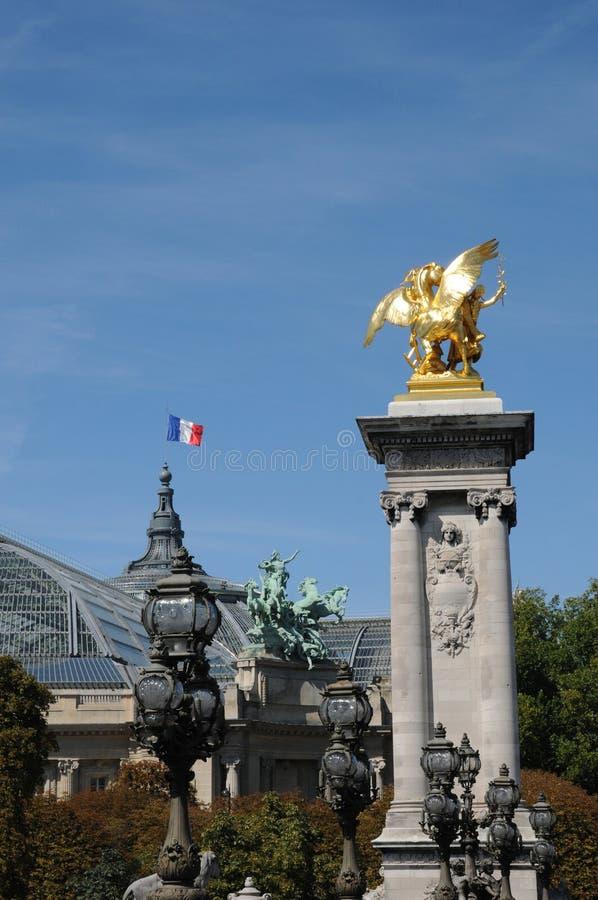 Le Grande Palais, um lugar para a exposição em Paris fotografia de stock royalty free