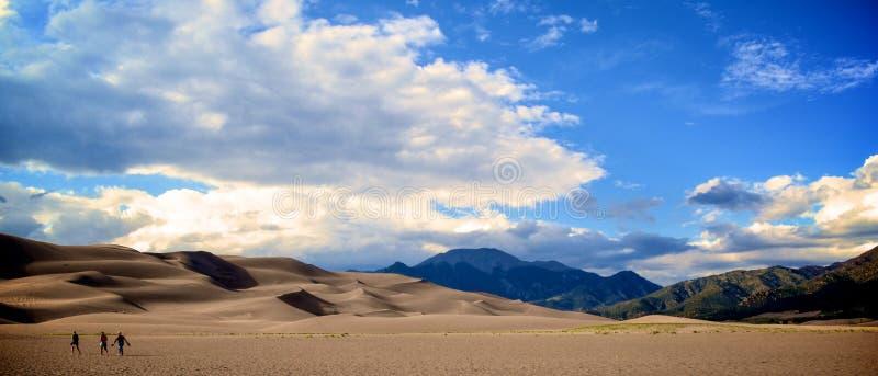 Le grandi dune di sabbia fotografia stock