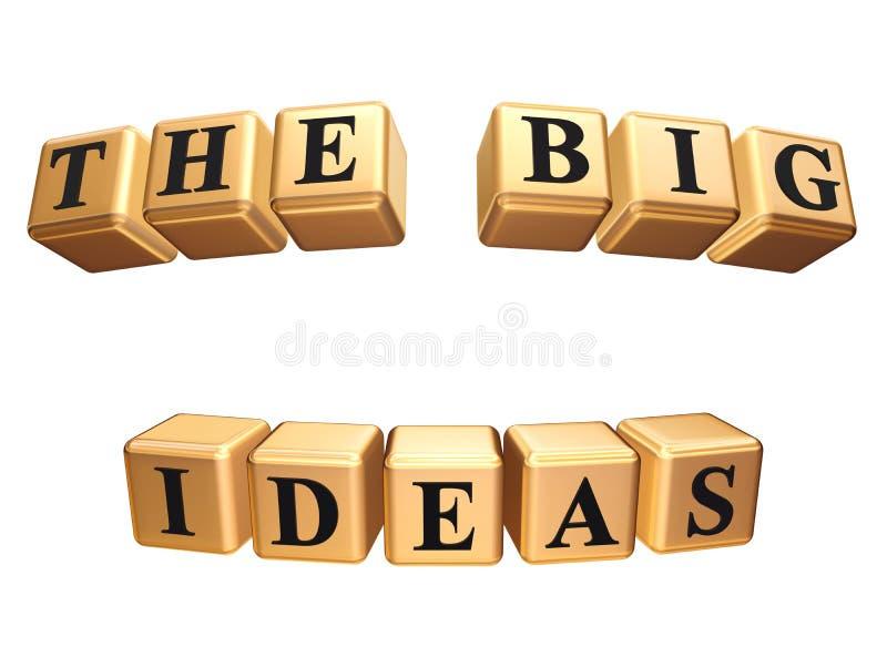 Le grandi idee isolate illustrazione vettoriale