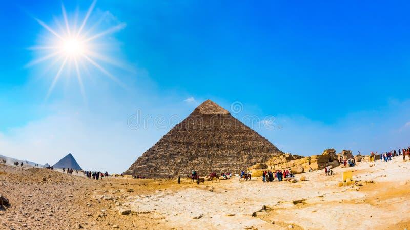 Le grandi piramidi di Giza, Egitto immagine stock libera da diritti