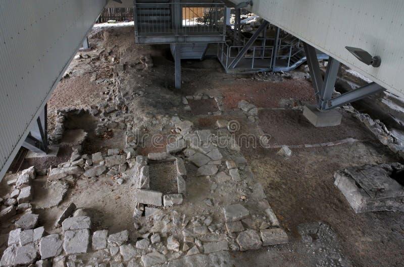 Le grandi rocce di Dig Archaeology Education Centre The in Sydney Aus fotografia stock libera da diritti