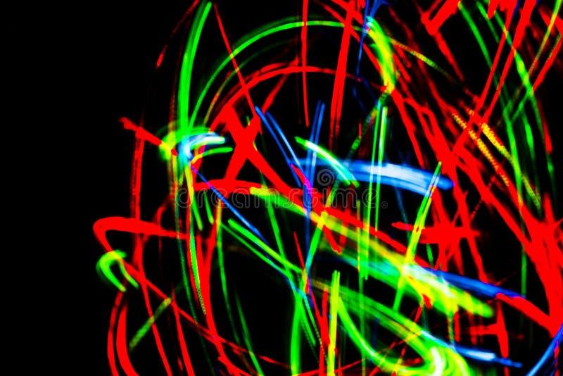 Le graphique abstrait a brouillé le fond futuriste de couleurs bleues, rouges, vertes, jaunes illustration libre de droits