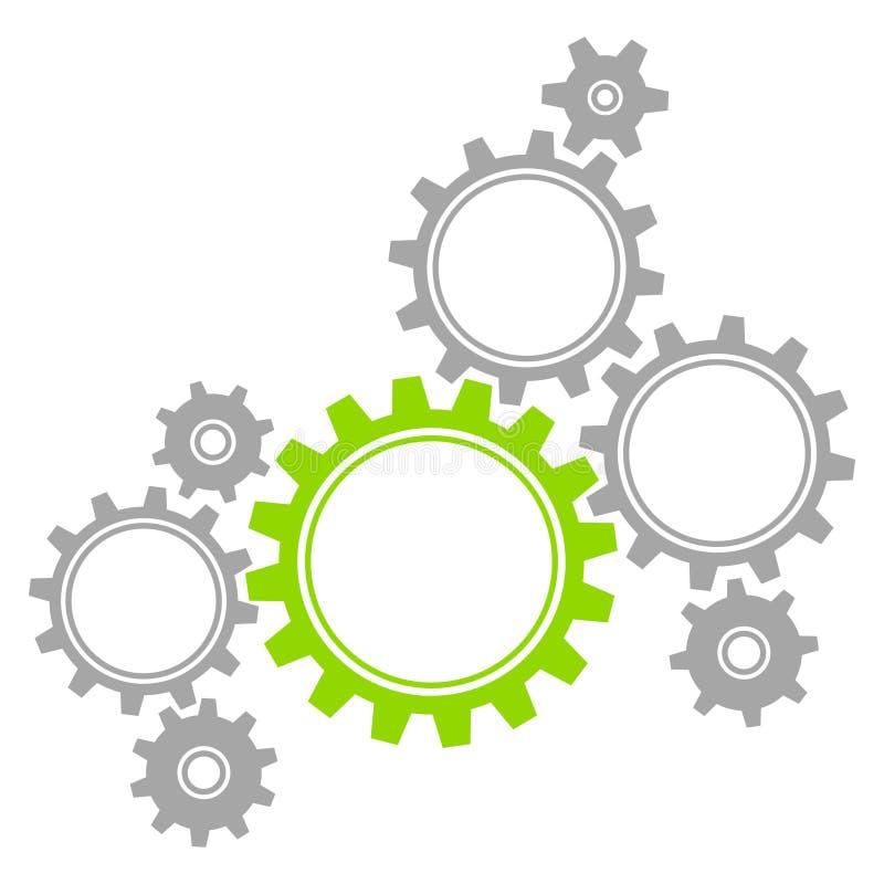 Le graphique de Groupe des Huit embraye Gray And Green illustration de vecteur