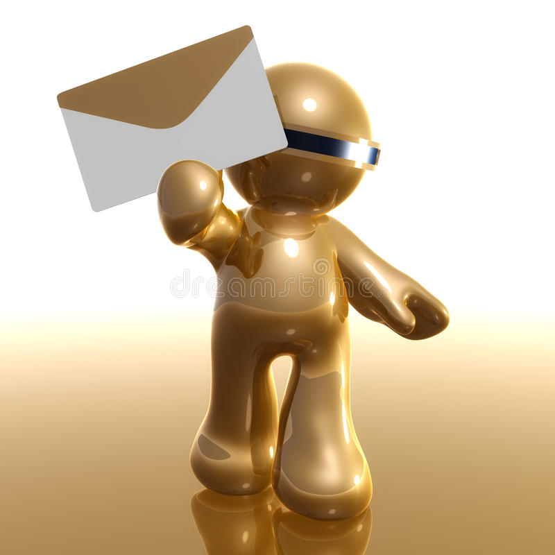 le graphisme 3d avec envoient le symbole d'email illustration de vecteur