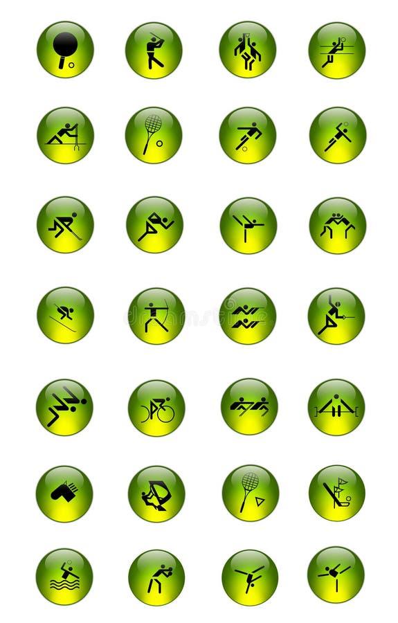 Le graphisme de sport a placé [01] illustration stock