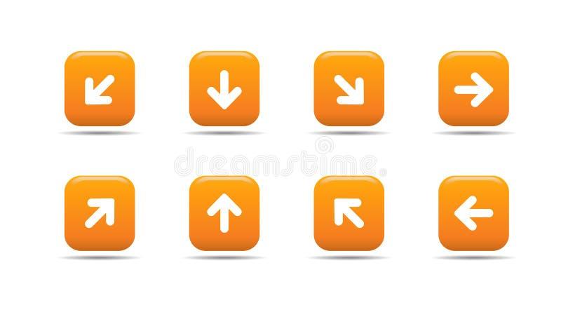 Le graphisme de Web a placé 5  Série d'abricot illustration de vecteur