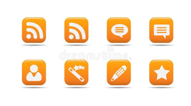 Le graphisme de Web a placé 7| Série d'abricot illustration libre de droits