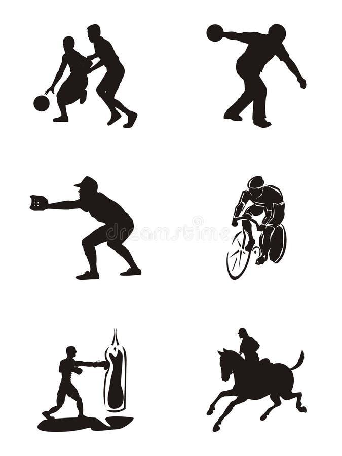 le graphisme silhouette des sports illustration libre de droits